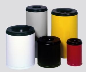 selbstlöschender Papierkorb