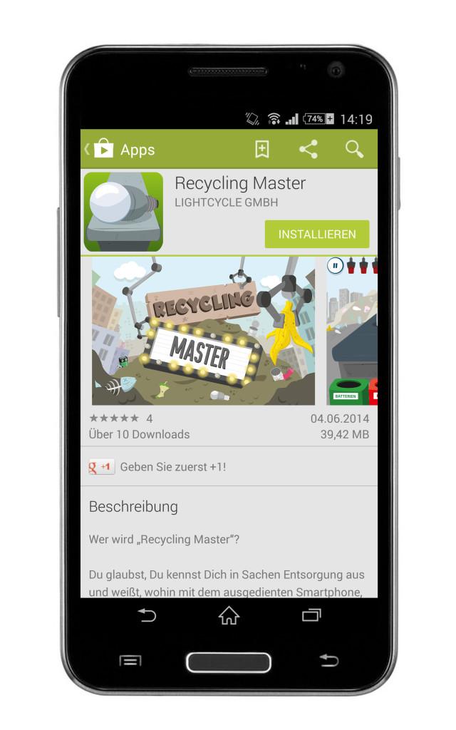Recycling Master auf dem Android spielen (c) lightcycle.de