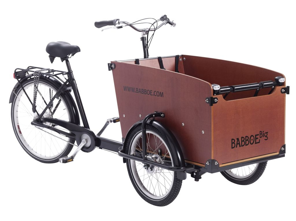 Lastenfahrrad mit Gepäckbox (c) babboe.de