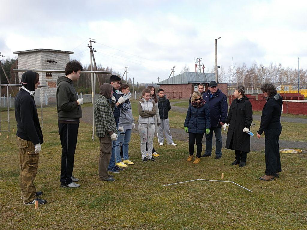 Projektgruppe im Kinder- und Jugendzentrum Nadeshda in Belarus (c) Susanne Joachimsmeyer