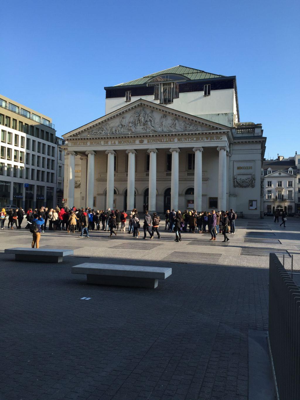 Besucherbank in Brüssel (c) Rico Zimmermann