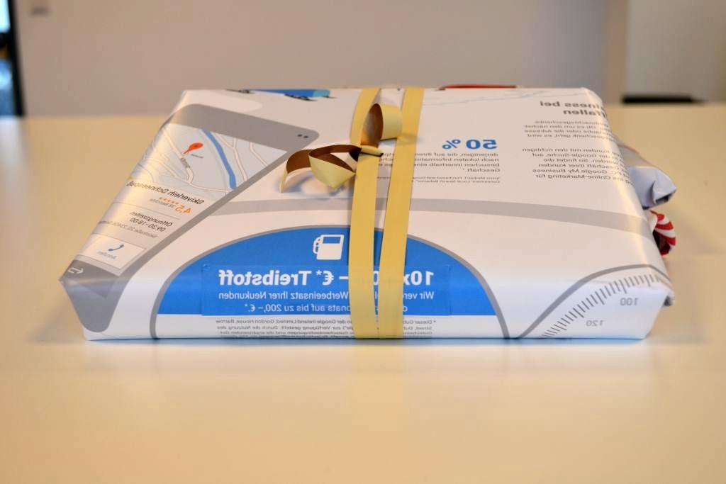 Geschenkverpackung aus Kalenderblättern - RESORTI Blog