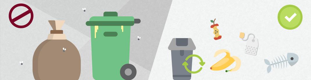 Kleine Mülleimer gegen Gestank (c) resorti.de