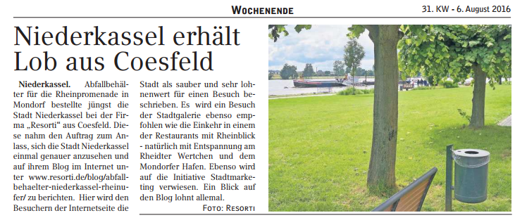 Zeitungsbericht Niederkassel Extra-Blatt (c) resorti.de