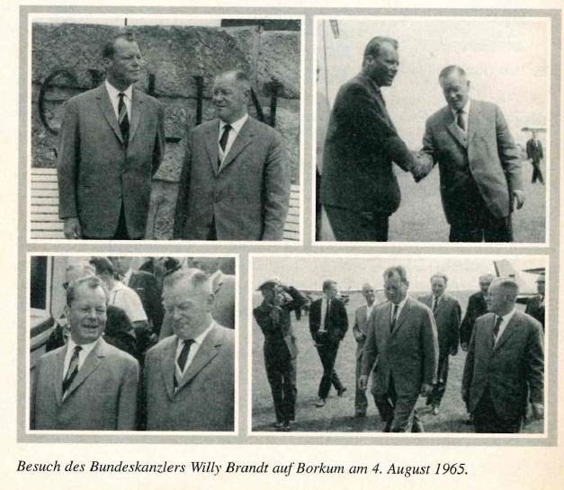 Willy Brandt vor der Berliner Mauer auf Borkum 1965
