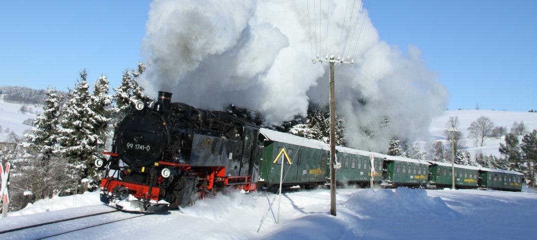 Fichtelbergbahn im Winter