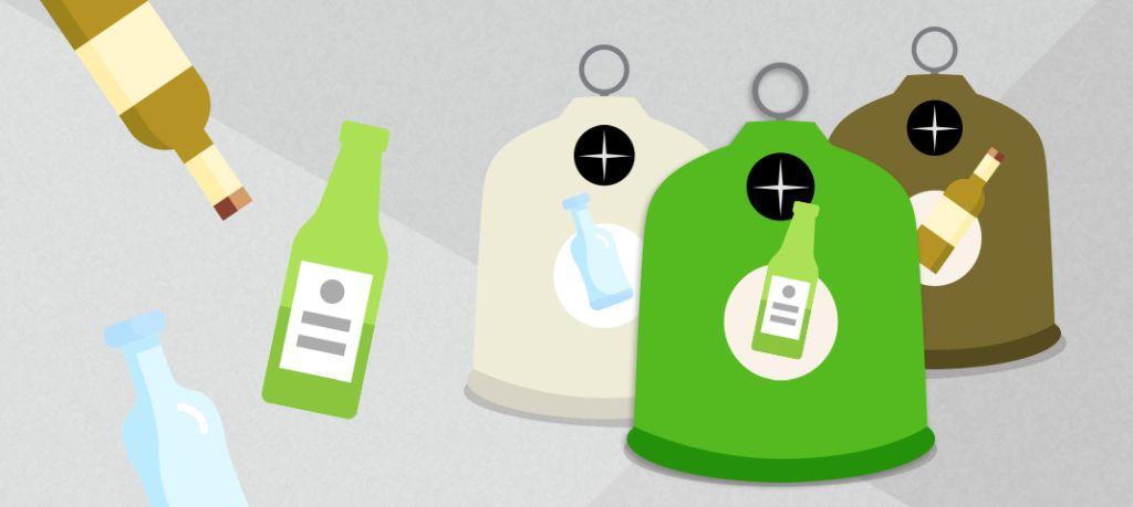 Darstellung Weißglascontainer, Grünglascontainer, Braunglascontainer - RESORTI-Blog
