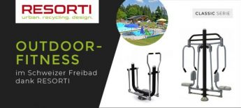 Outdoor-Fitnessgeräte im Schwimmbad Eywald - RESORTI-Blog