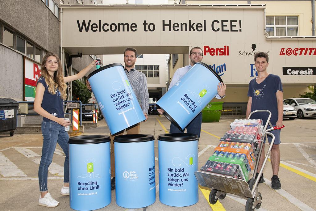 Jede Dose zählt Abfallbehälter bei Henkel CEE