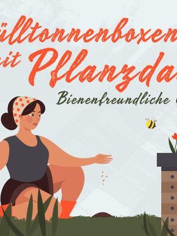 Bienenfreundliche Bepflanzung von Mülltonnenboxen