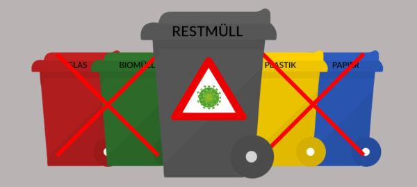 Coronavirus und Müllentsorgung: Neue Regeln für kontaminierte Abfälle