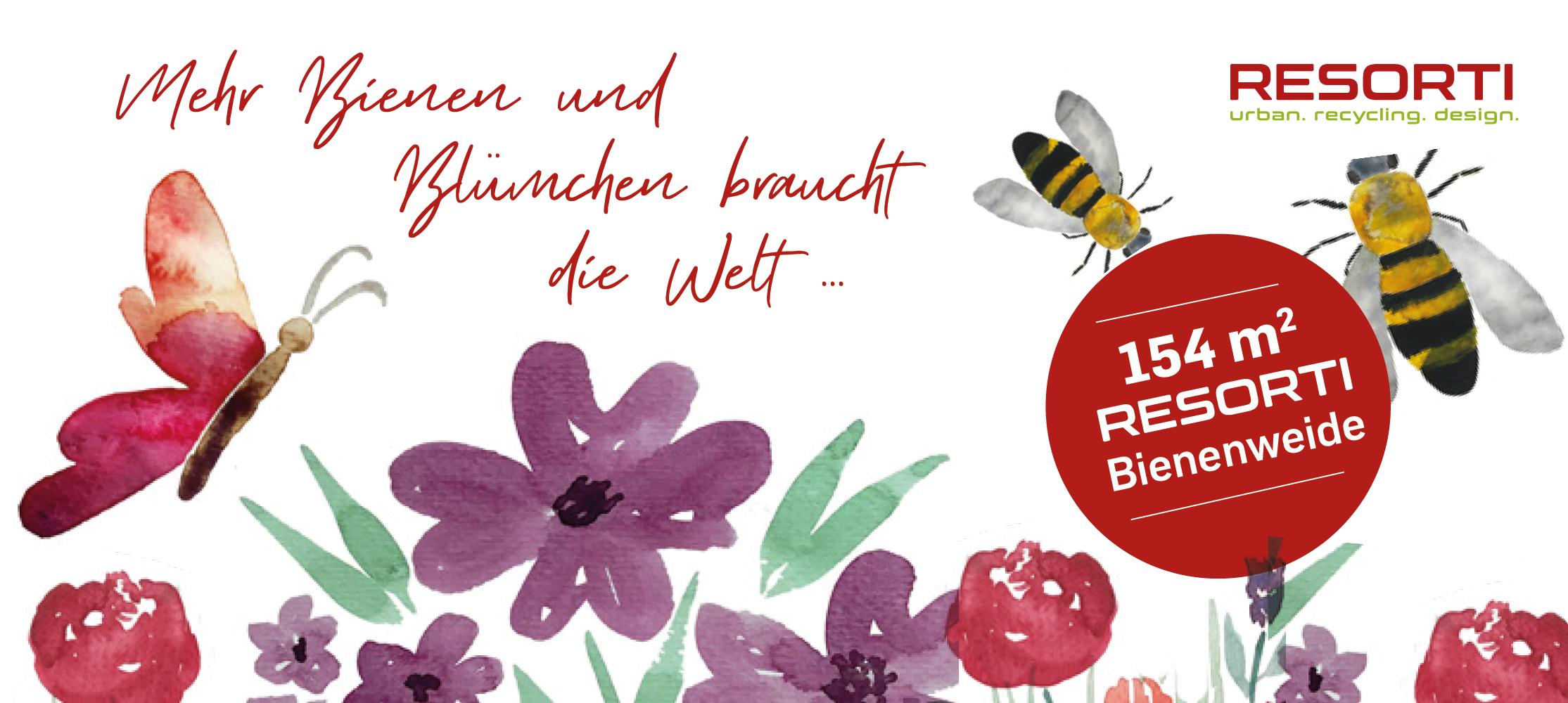 RESORTI pflanzt Bienen- und Schmetterlingsweiden