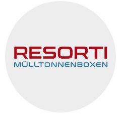 RESORTI Mülltonnenboxen Logo