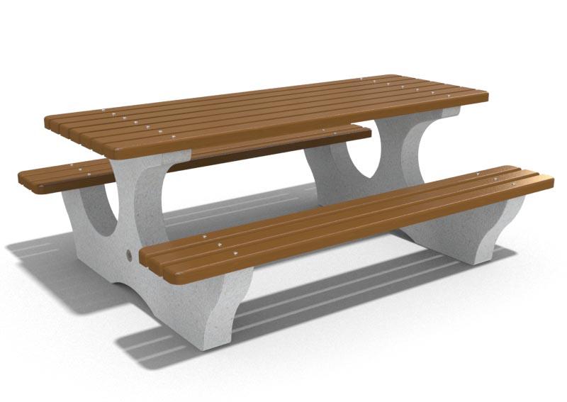 Bank Tisch Kombination Mazara Mit Holzauflagen