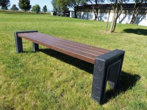 Vorschau: Parkbank Vida 1,80 Meter ohne Rückenlehne
