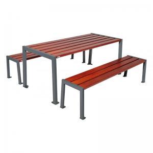Vorschau: Bank-Tisch Kombination Silaos_resorti grau_Mahagoni