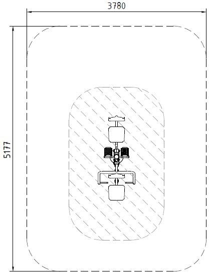 Sicherheitsbereich-Bein-und-Brustpresse