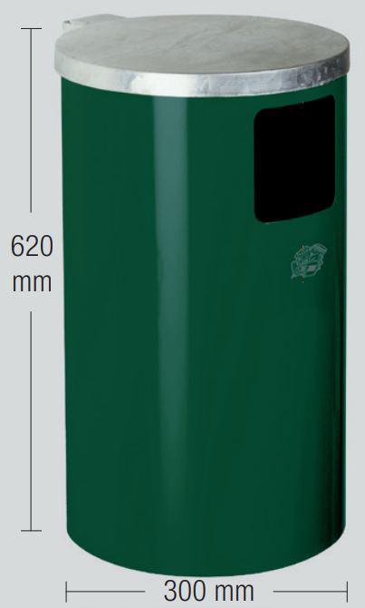 Hundetoilette-DS-1-moosgruen-Abfallsammler-Masse