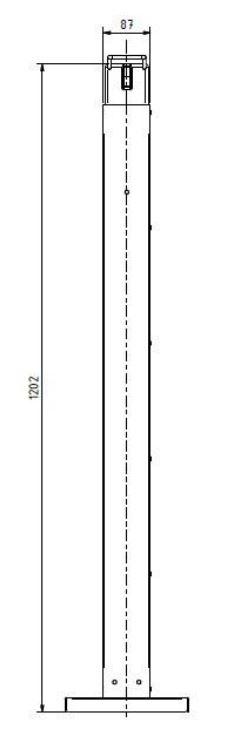 Edelstahl-Desinfektionsspender-HDS-stehend-Masse