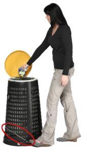 Vorschau: Fußpedalgestänge für Korbständer