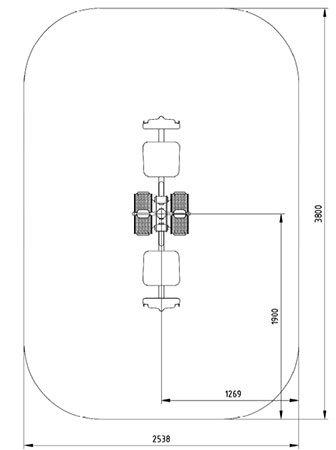 Sicherheitsbereich-Beinpresse-Duo-Inox