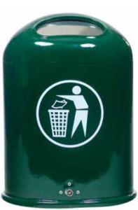 Vorschau: Abfallbehälter zur Wand- oder Pfostenbefestigung mit Federklappe