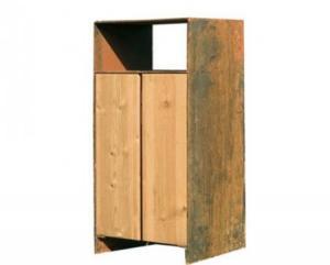 Vorschau: Abfallbehälter Holz/Stahl