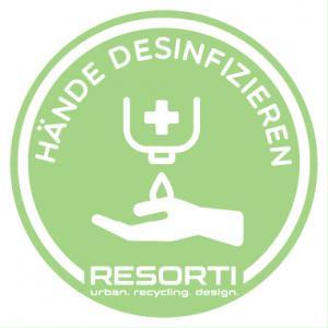 Vorschau: Aufkleber Hände desinfizieren