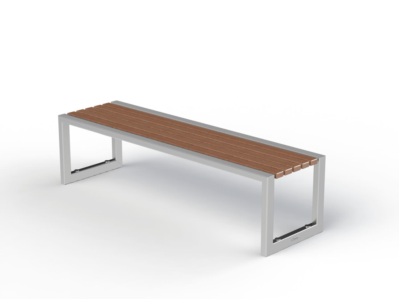 sitzbank arthur edelstahl 1 80 meter ohne r ckenlehne. Black Bedroom Furniture Sets. Home Design Ideas
