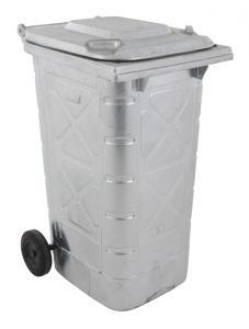 Vorschau: Mülltonne verzinkt 240 Liter