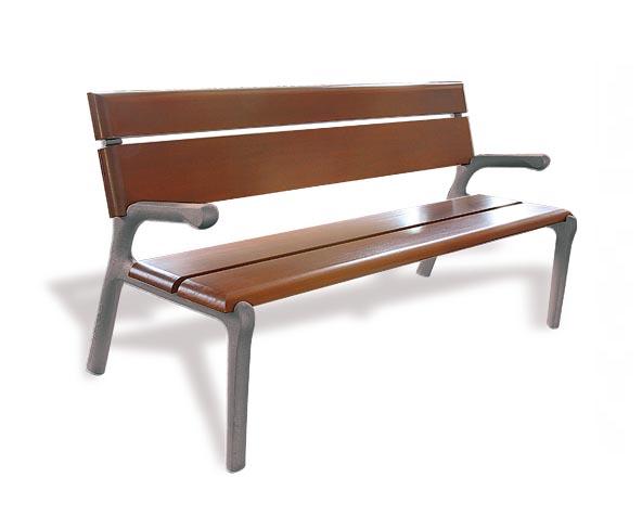 Sitzbank-Delta-mit-Armlehnen