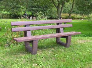Vorschau: Kunststoff Parkbank Lodur