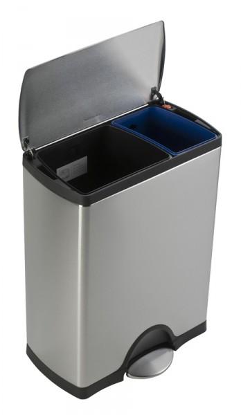 Tret-Abfallbehälter rechteckig Edelstahl