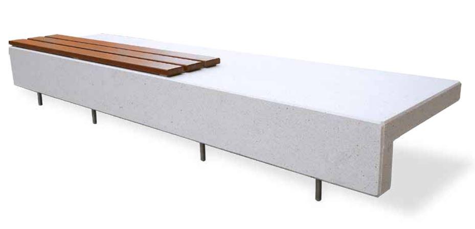 parkbank ela aus beton mit sitzauflage. Black Bedroom Furniture Sets. Home Design Ideas