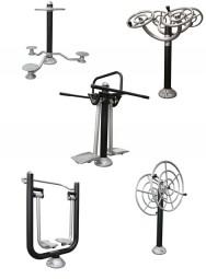 Outdoor Fitnessgeräte Set Gesundheit Plus