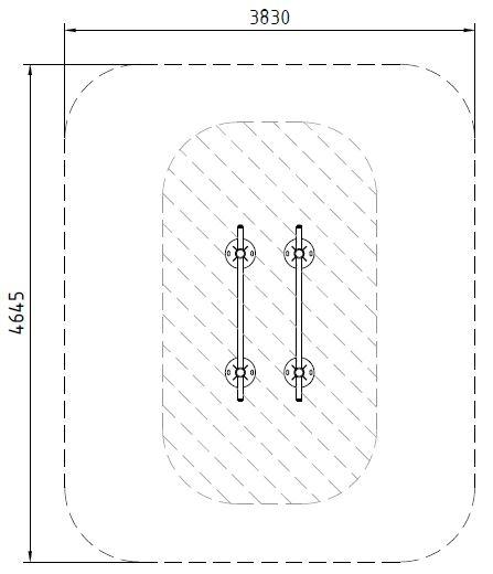 Sicherheitsbereich-Parallelbalken-Inox
