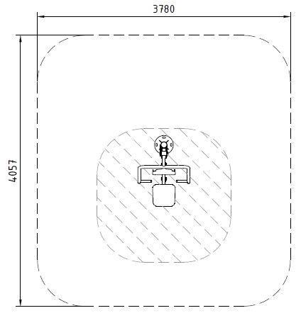 Sicherheitsbereich-Brustpresse-Inox