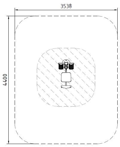 Sicherheitsbereich-Beinpresse-Inox