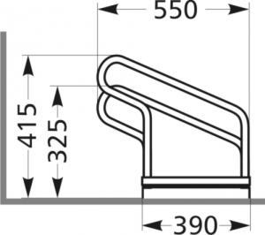Vorschau: Fahrradparker 1000 einseitige Radeinstellung