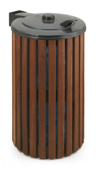 Abfallbehälter Außenbereich Holz : abfallbeh lter rund mit deckel 110 liter ~ Sanjose-hotels-ca.com Haus und Dekorationen