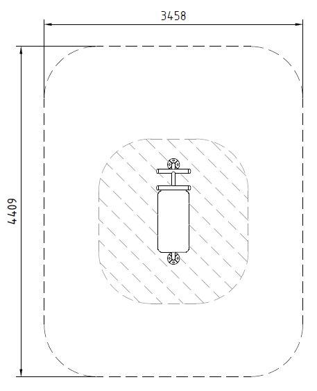 Sicherheitsbereich-Bauchtrainer-Inox