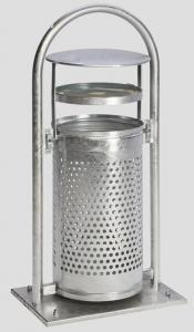 Vorschau: Rohrbogenständer RB 002 Abfallsammler mit Ascher