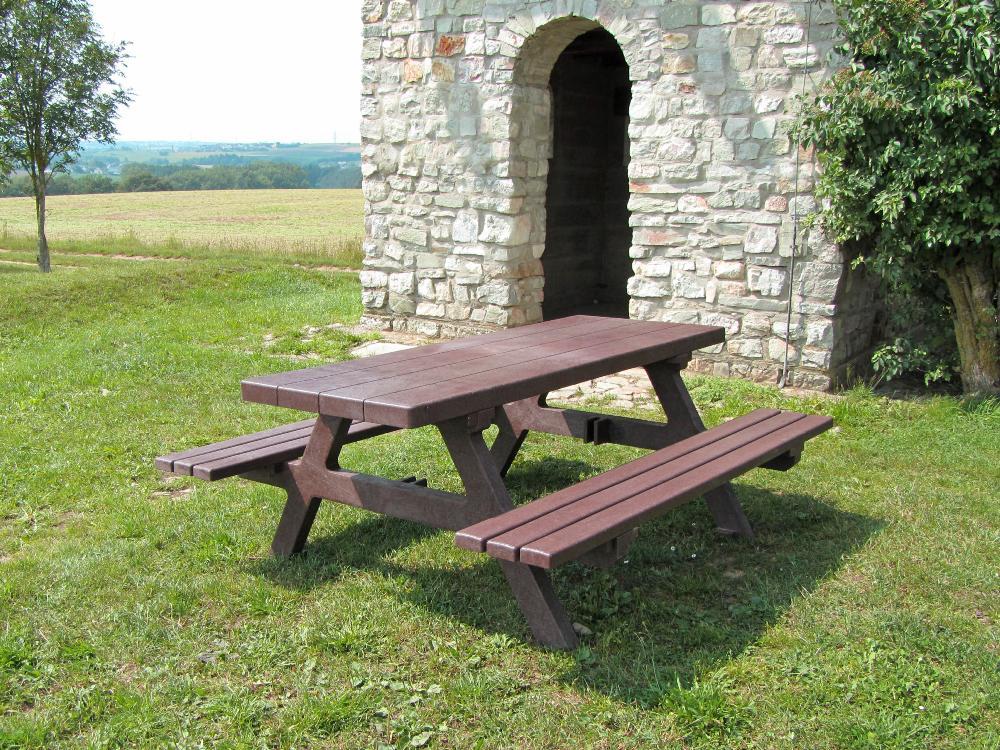 Bank Mit Tisch bank tisch kombination sola aus kunststoff