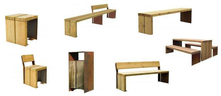 Sitzbank-Gavarres-set