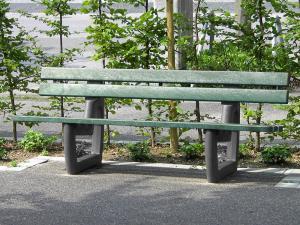 Vorschau: Parkbank Fulla mit Rückenlehne