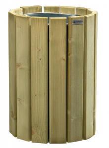 Vorschau: Abfallbehälter Holz rund