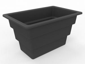 Vorschau: Pflanzeinsatz für Mülltrennsystem Design 90 Liter