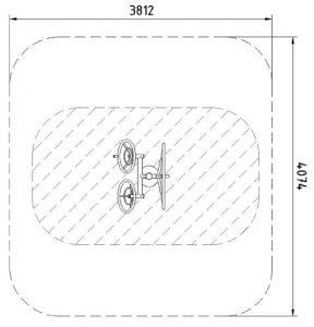Sicherheitsbereich-Rad-Inox