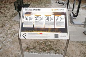 Vorschau: Standortschild für Outdoor Fitnessgeräte