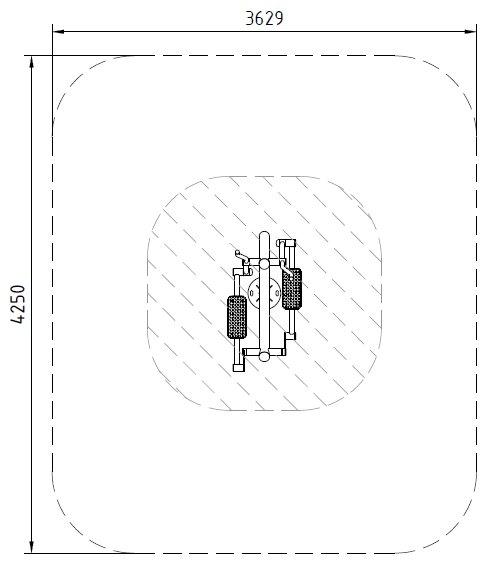 Sicherheitsbereich-Crosstrainer-Inox